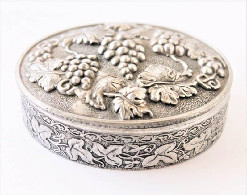 Heritage Pewter Vanity Box