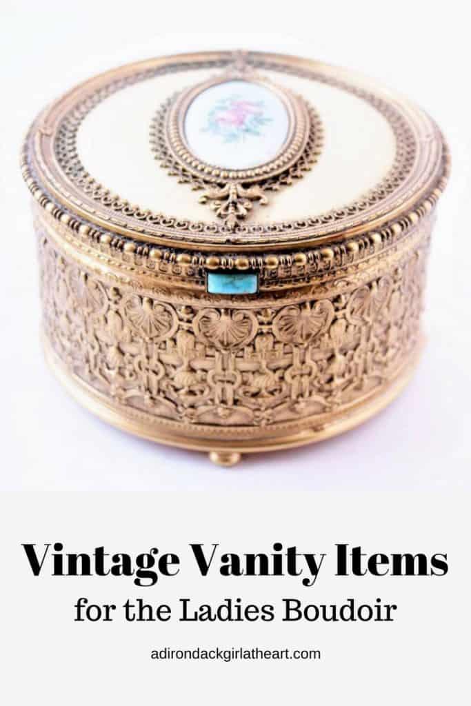 vintage vanity items for the ladies boudoir adirondackgirlatheart.com