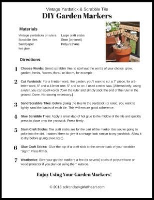 photograph regarding Printable Yardstick named Common Yardstick Scrabble Tile Do-it-yourself Back garden Markers + No cost