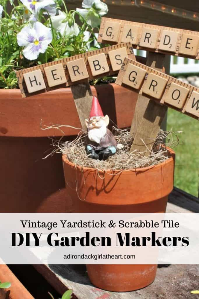 photo relating to Printable Yardstick identified as Typical Yardstick Scrabble Tile Do it yourself Yard Markers + No cost
