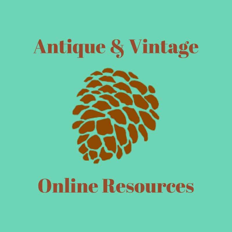 Antique & Vintage Online Resources Button adirondackgirlatheart.com