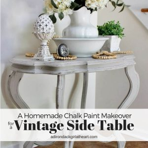 A Homemade Chalk Paint Makeover for a Vintage Table + Video