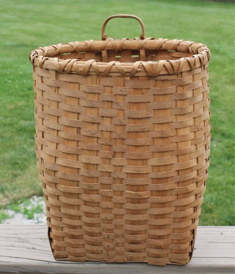 """Vintage ash splint """"Pack"""" basket"""