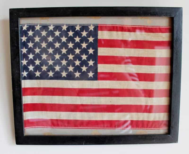 vintage framed flag