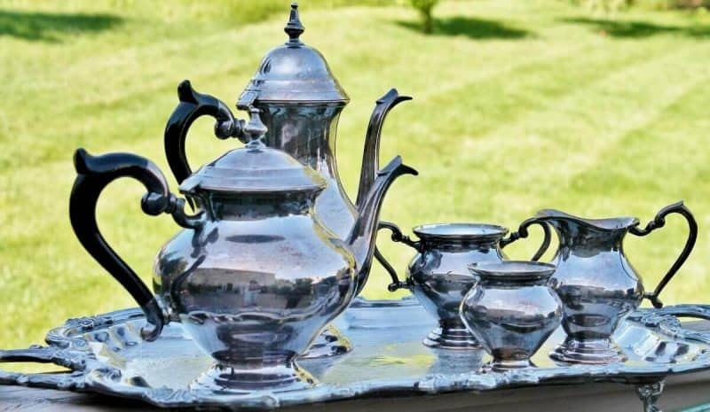 Vintage Silver Plated Tea & Coffee Set (1) $15 for coffee pot