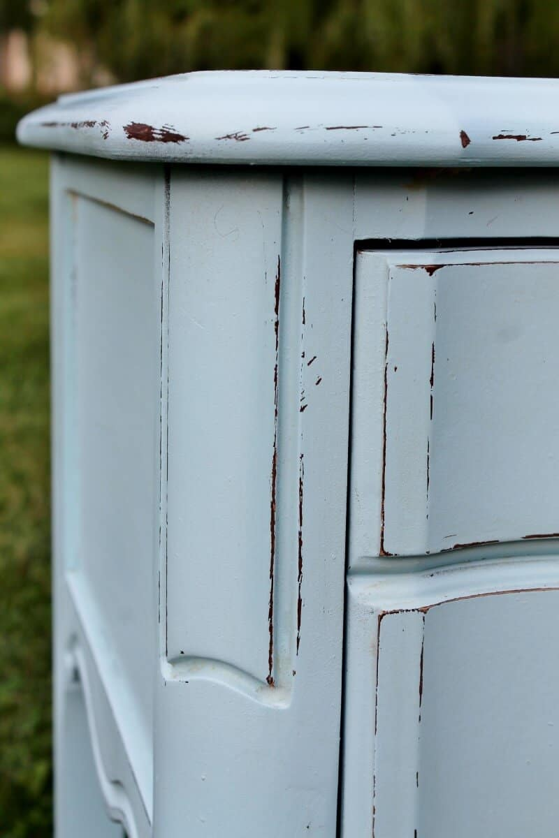 Close up of Vintage French Provincial Night Stand