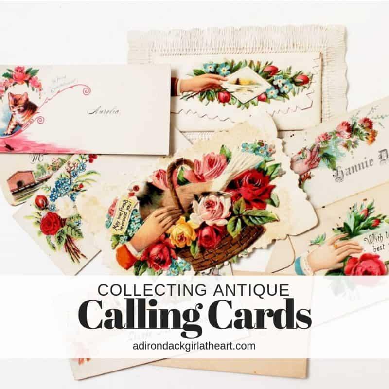 Collecting Antique Calling Cards adirondackgirlatheart.com