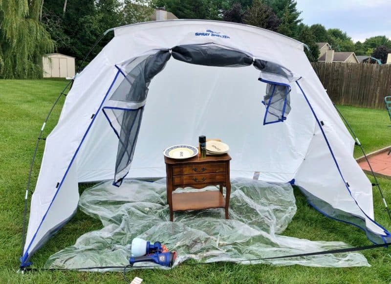 HomeRight Paint Tent before painting