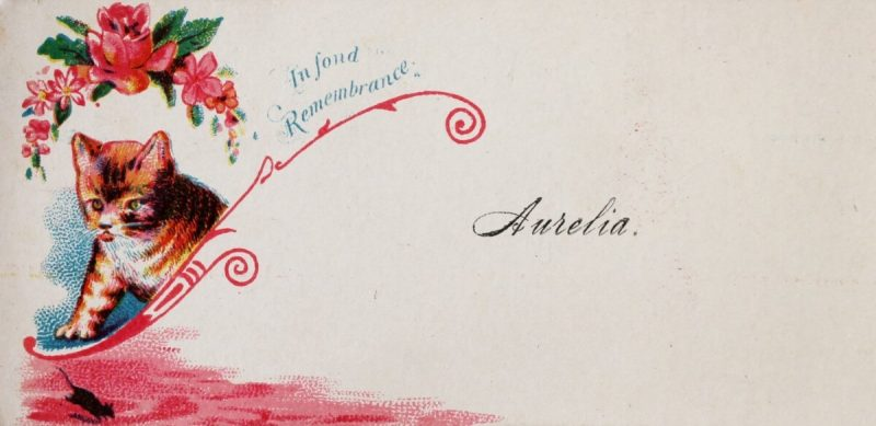 Antique Feline Calling Card