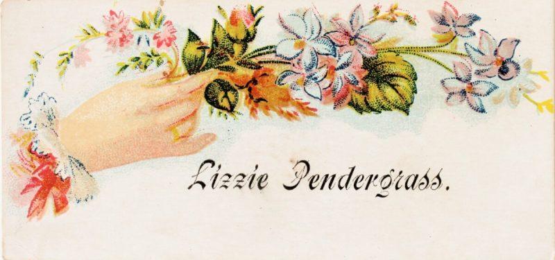 Antique Floral Calling Card