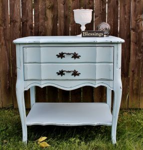 Vintage Painted French Provincial Night Stand adirondackgirlatheart.com