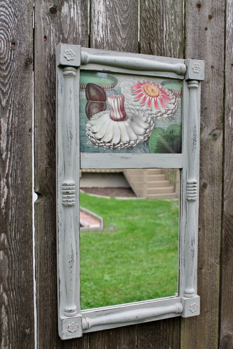 Small Mirror & Print Makeover with Chalk Paint