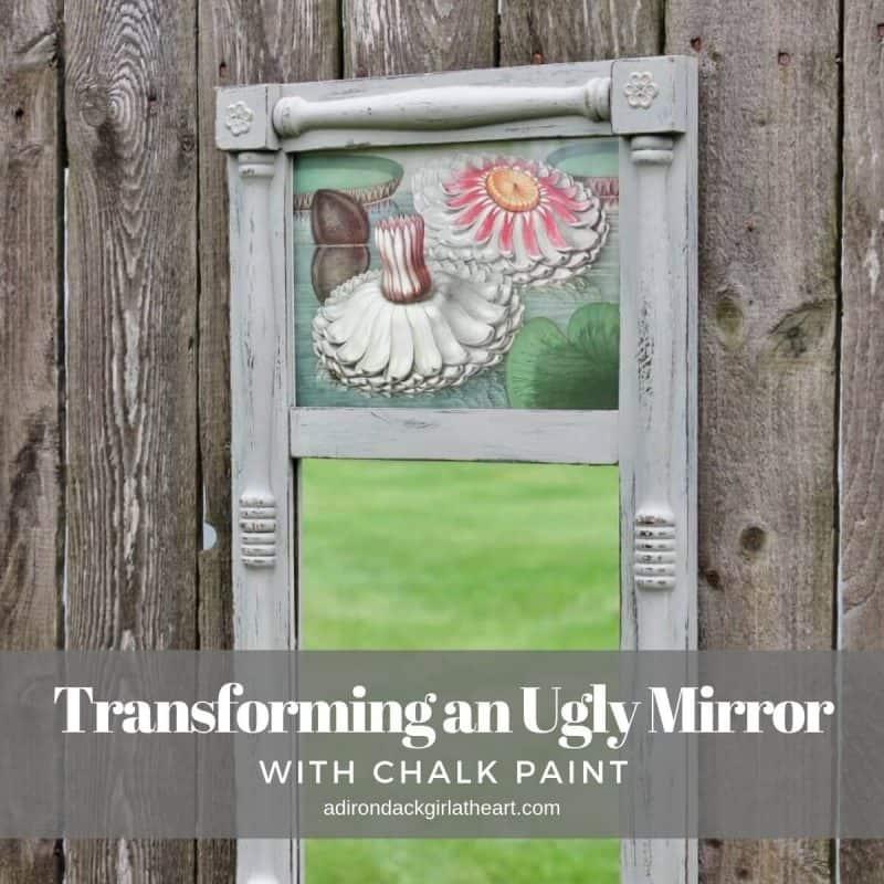 Transforming an Ugly Mirror with Chalk Paint adirondackgirlatheart.com