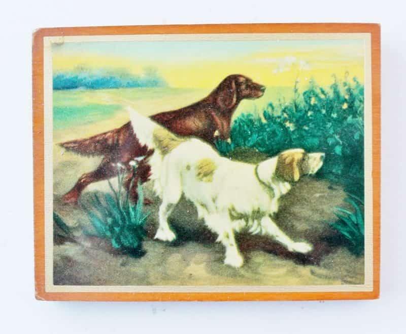 Vintage Diminutive Dog Print on Wood