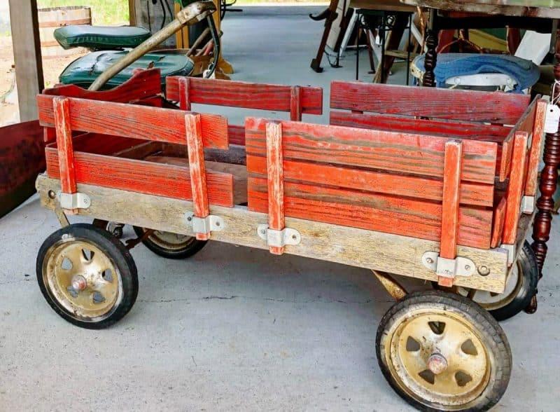 Vintage Wooden Slatted Wagon