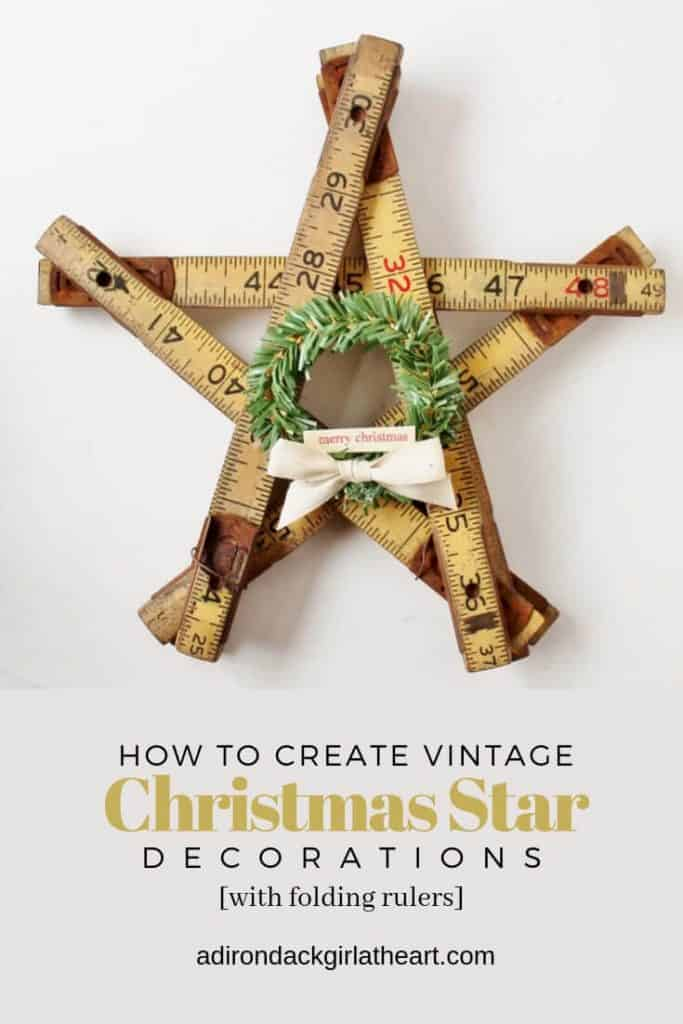 How to create vintage christmas star decorations adirondackgirlatheart.com