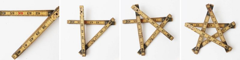 How to fold a vintage ruler into a star