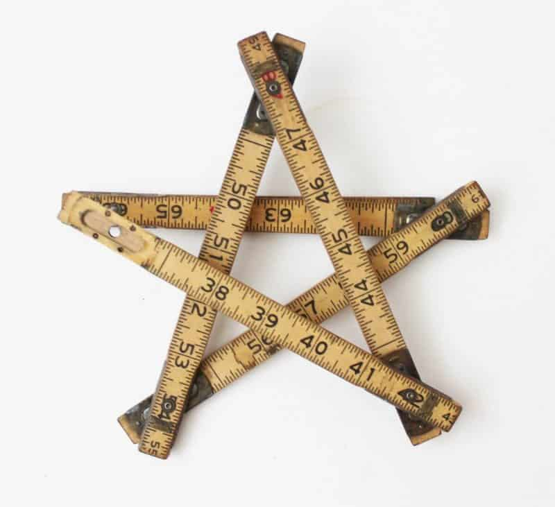 vintage Christmas Star Decoration with folding ruler