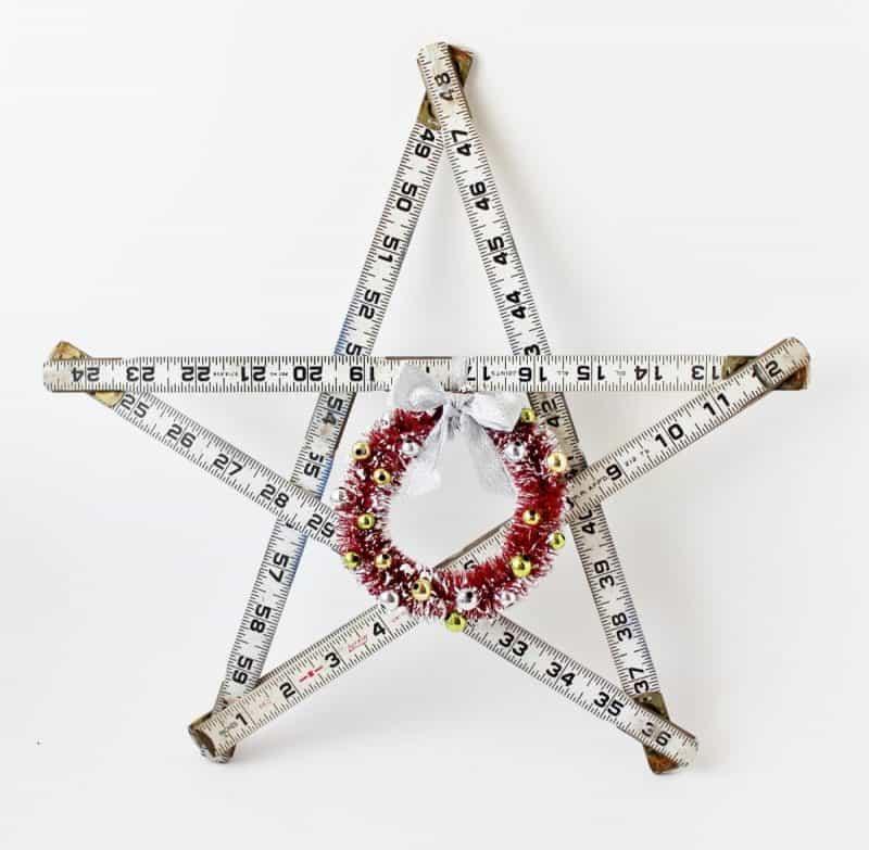 Vintage white folded ruler star
