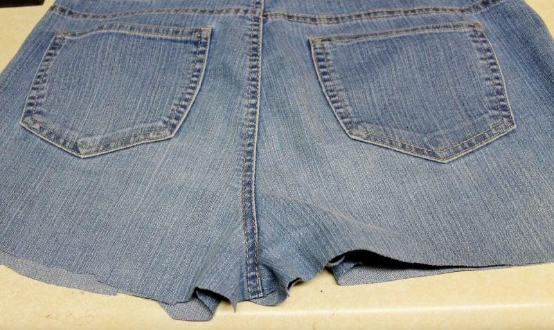 Cut your jean legs off