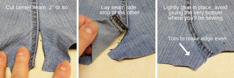 How to straighten center seam on jeans