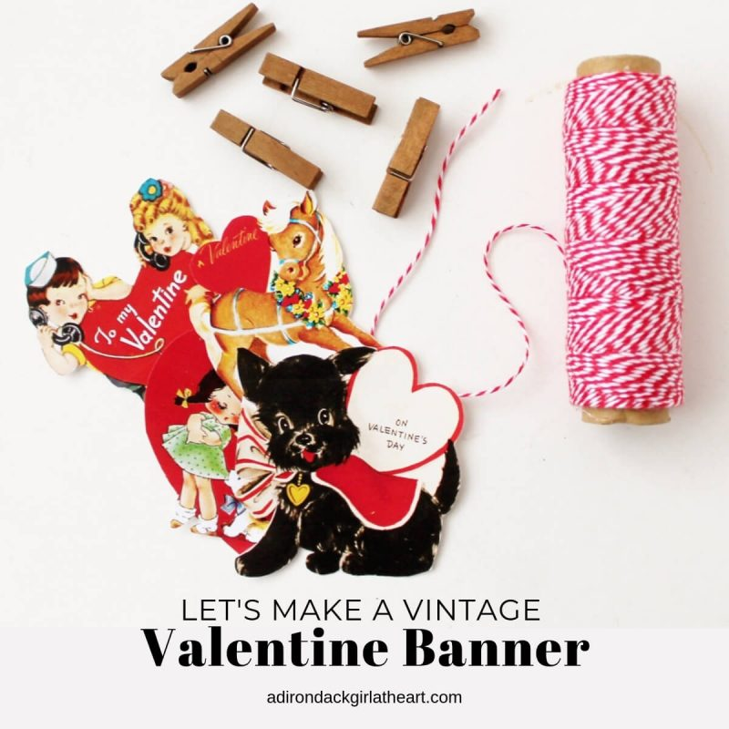 photo relating to Free Printable Vintage Valentine Cards identified as Will allow Create a Typical Valentine Banner +No cost Printable