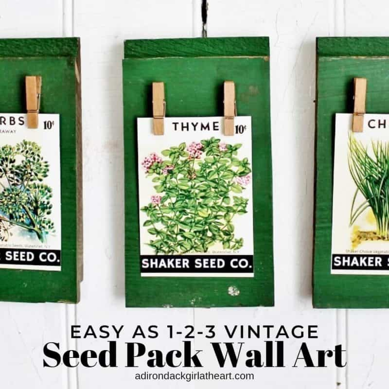 graphic about Free Printable Vintage Images named Very simple as 1-2-3 Common Seed Pack Wall Artwork + Absolutely free Printable