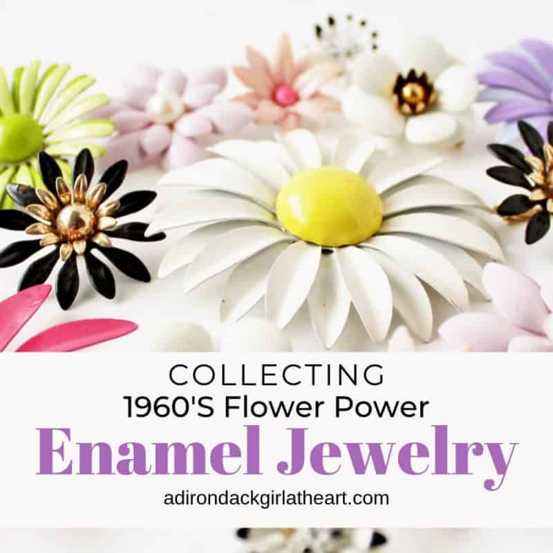 Collecting Vintage 1960's Enamel Flower Power Jewelry