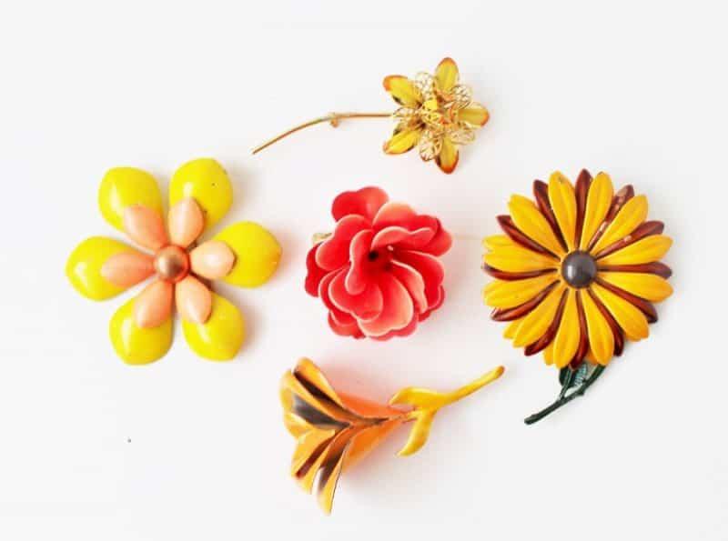 ebb2917c5 Collecting Vintage 1960's Enamel Flower Power Jewelry • Adirondack ...