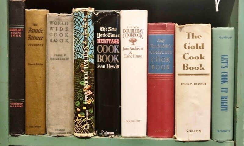 collection de livres de cuisine
