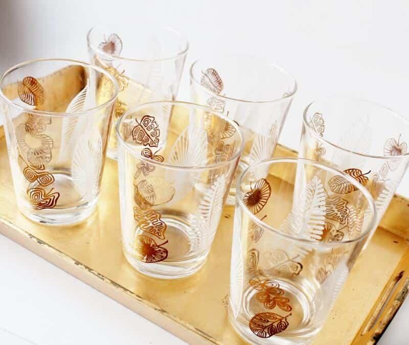 set de six verres anciens