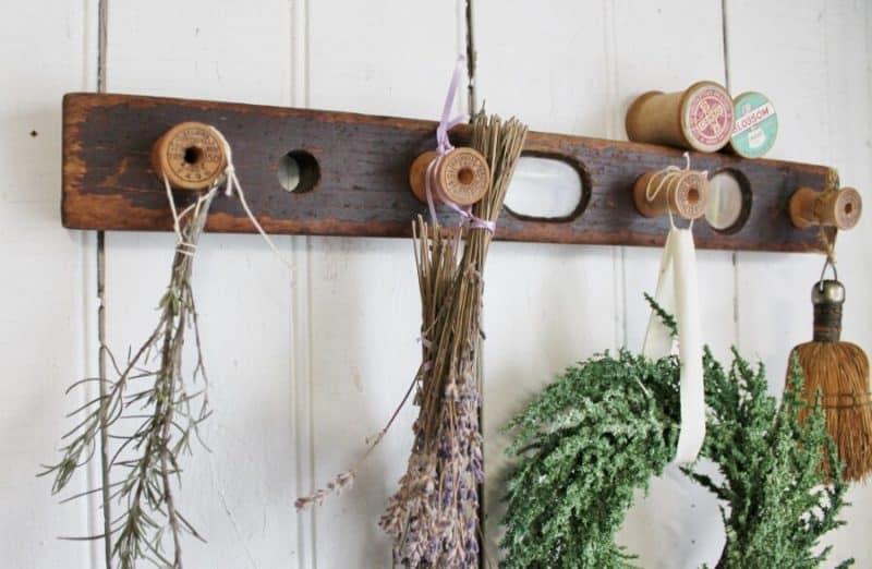 How To Make A Farmhouse Style Herb Rack Adirondack Girl